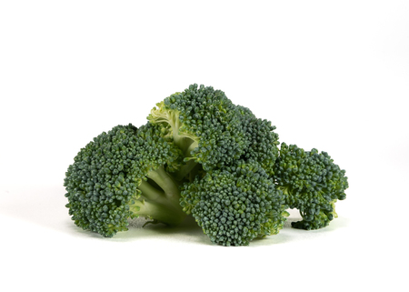 Serving of Broccoli Isolated on White Background 스톡 콘텐츠