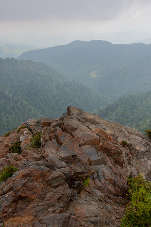 Rocky Outcropping at Charlies Bunion in the Smokies