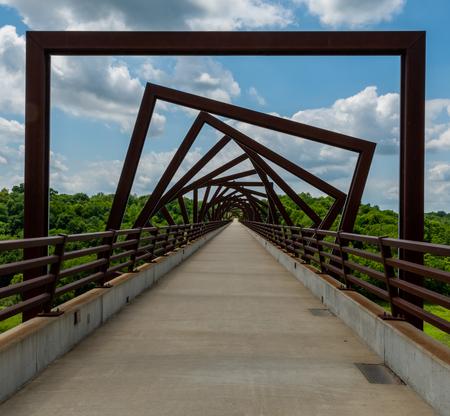 High Trestle Trail Bridge in rural Iowa offers fun in public spaces