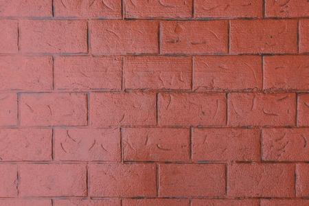 Reddish Orange Bricks on Exterior Wall Background Image Stock Photo