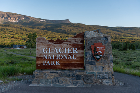 Glacier National Park Sign