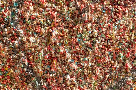 Chewing Gum Covering Wall background image