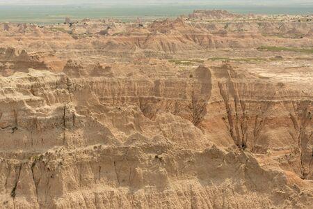 Badlands Rock Formations Stretch Across the Landscape