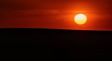 Sun Over Horizon of Smooth Field in Black Hills