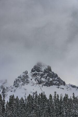 Dark Clouds Above Pinnacle Peak in Washington wilderness