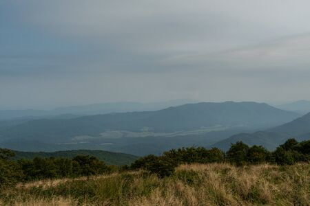 Overlooking Cades Cove From Gregory Bald in late summer