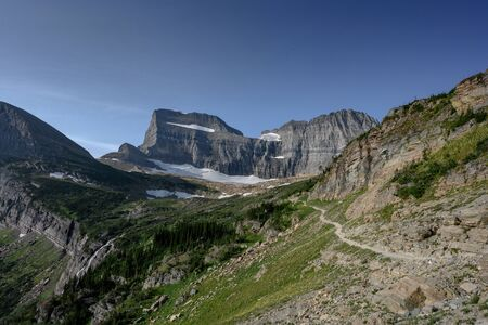 Trail Leading to Grinnell Glacier in late summer