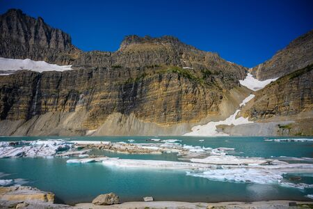 The Exposed Wall Above Grinnell Glacier in summer