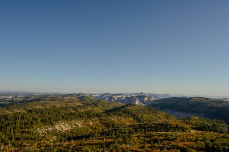 Overlooking Kolob Terrace in Fall in late afternoon