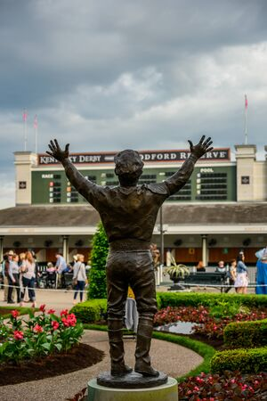 Louisville, United States: May 2, 2019: Pay Dat Status at Churchill Downs Stock Photo