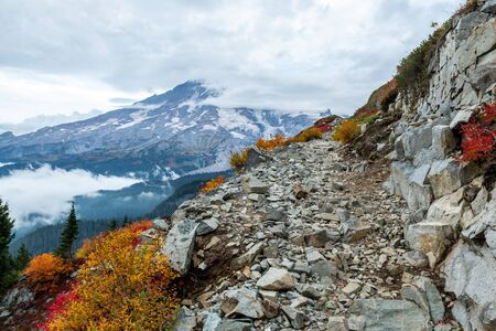 Shelf Trail and Mt. Rainier in the Fall