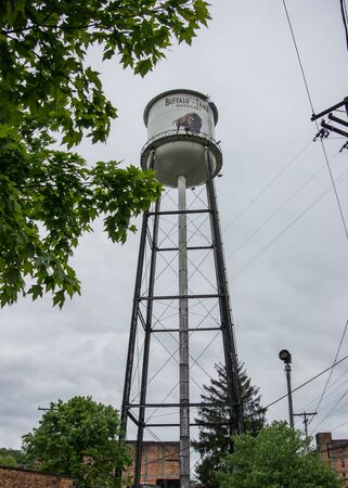 Versailles, United States: Buffalo Trace Water Tower at popular spot on the Kentucky Bourbon Trail