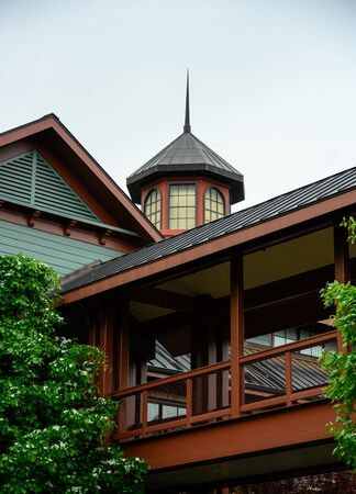 Lexington, United States: May 3, 2019: Classic Architecture at Fasig-Tipton Auction house where horse auctions frequently take place