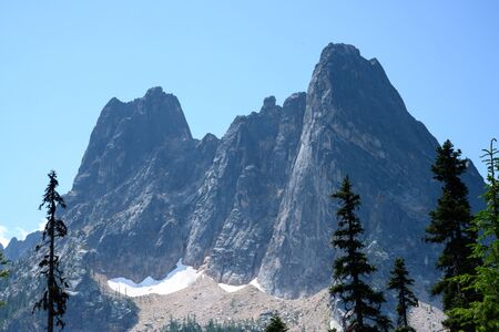 Liberty Bell Formation in North Cascades wilderness Фото со стока