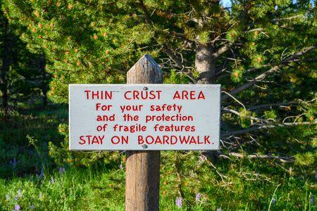 Thin Crust Warning Sign