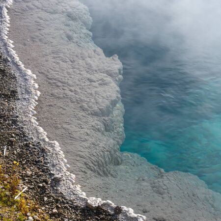Edge of Blue Hot Spring in Yellowstone geyser area