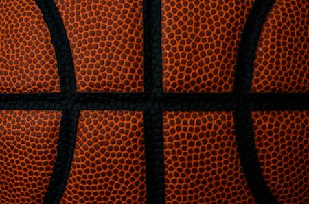 Focus Stack Where the Seams Meet on a basketball 写真素材