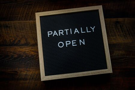 Partially Open Message on Letterboard