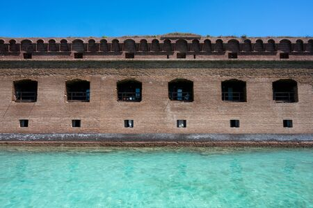 Ranger Apartments in Fort Jefferson behind aqua waters