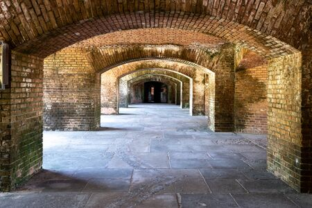 Repeating Brick Work Arches in Fort Jefferson
