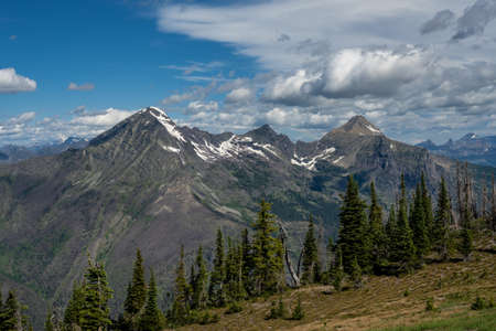 View from Mt Brown Lookout Tower in Glacier National Park