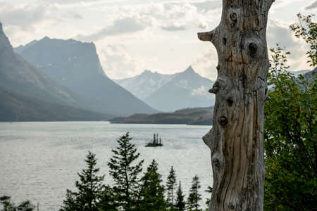 Wild Goose Island in Glacier National Park on a quiet afternoon