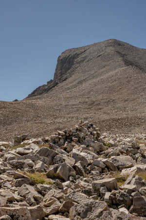 Wind Block and the Spine of Wheeler Peak in Great Basin National Park Standard-Bild - 167058257