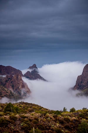 Fog Spills into the Chisos Basin in Big Bend National Park