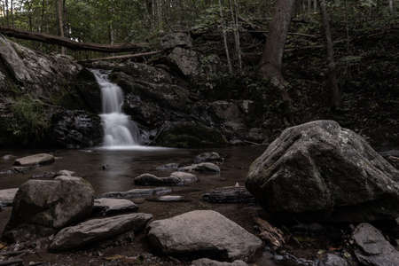 Upper Doyle Falls in Early Morning in shenandoah National Park