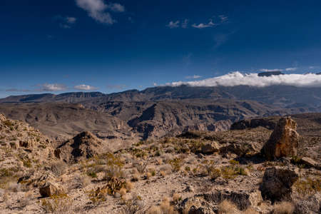 Looking Down From the Marufo Vega Trail Toward Mexico in Big Bend National Park Standard-Bild