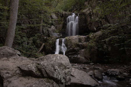 Lower Doyle Falls Tumbles Over Rocks in Shenandoah National Park
