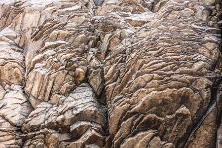 Layers of Rock Shaped At The Bottom Of a Dry Creek in Big Bend National Park