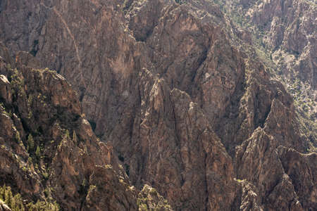 Multiple Ridges Drop Into The Canyon Below the rim of Black Canyon of the Gunnison