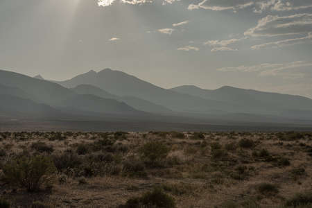 Afternoon hazy layers over Great Basin National Park Standard-Bild
