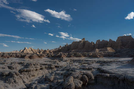 Badlands Hoodoos Unfold Across Valley in South Dakota