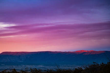 Pink Skies at Sunset Over Grapevine Hills in Big Bend National Park