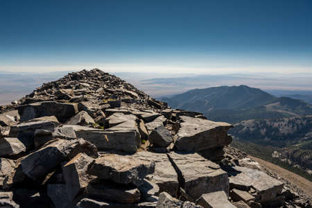 Rock Pile Spans Toward the Summit of Wheeler Peak in Great Basin National Park