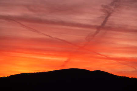 Sunset and Giant X Over Clingmans Dome in Great Smoky Mountains National Park