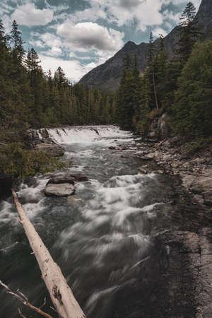 Rushing Water Down McDonald Creek Stock Photo