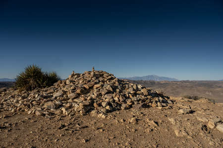 Rocky Pile At The Summit Of Ryan Mountain in Joshua Tree National Park