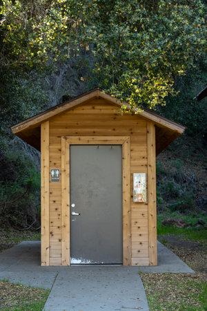 Restroom Building On Santa Cruz Island in Channel Islands National Park Stock Photo
