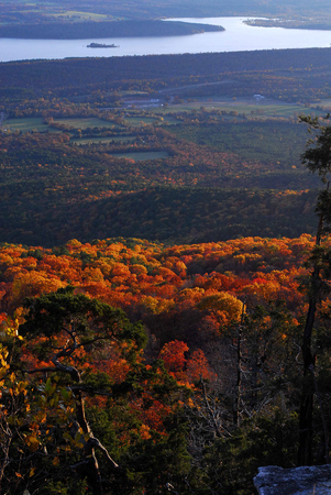 Fall Colors on Mount Magazine Arkansas Stock Photo