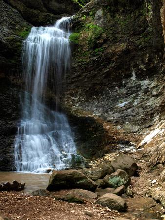 Eden Falls Waterfall in Arkansas Stock Photo