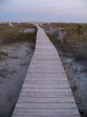 Walkway to the beach at Crooked Island