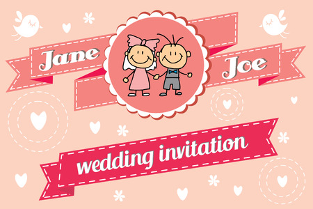 Wedding invitation for you happines day Vector