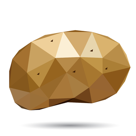 tessellated: Vector illustration of a potato rendered in a geometric style Illustration