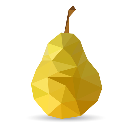 Vector illustration of a pear rendered in a geometric style 矢量图像