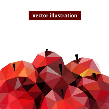 tessellated: Vector illustration of an apples rendered in a geometric style Illustration