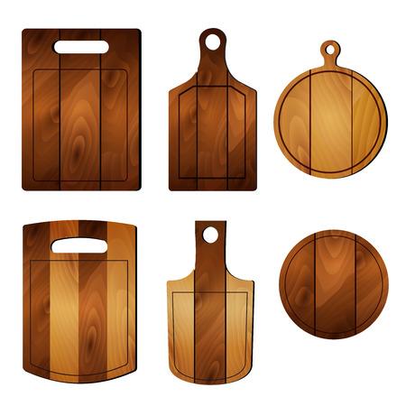 cutting board: Set of pizza cutting board. Illustration