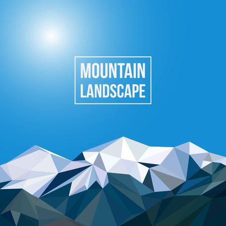 achtergrond met bergen in veelhoekige stijl Stock Illustratie